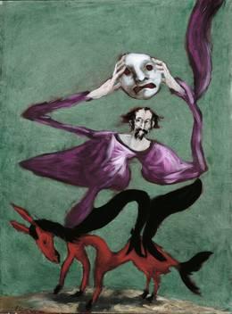 Gérard Garouste, Le Masque, 1998. Huile sur toile. Collection particulière © Galerie Daniel Templon, Paris/Bruxelles © Bertrand Huet, Tutti Image