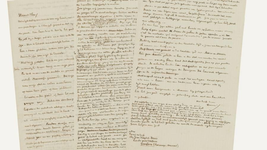 Exemples de lettres écites par Van Gogh