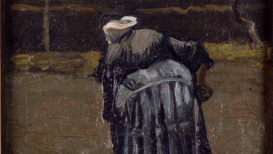 Peasant Woman Digging Vincent van Gogh Collection Het Noordbrabants Museum