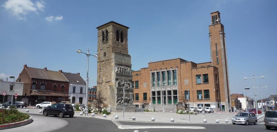 Hôtel de ville et tour saint Quentin-Quaregnon