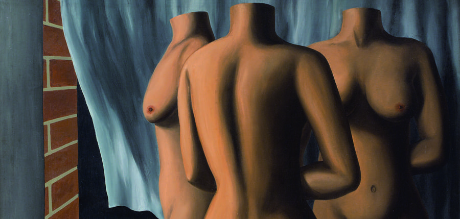 René Magritte, Dialogue dénoué par le vent, 1928, huile sur toile, 81 x 116 cm, The Simon Collection of Belgian Art, Courtesy Patrick Derom Gallery, Bruxelles photo Fernando Laszlo, Brésil © Succession René Magritte – SABAM belgium 2019