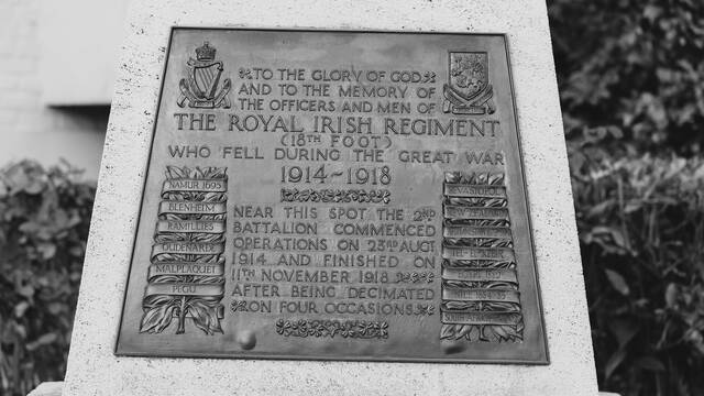 7. Royal Irish Regiment Monument