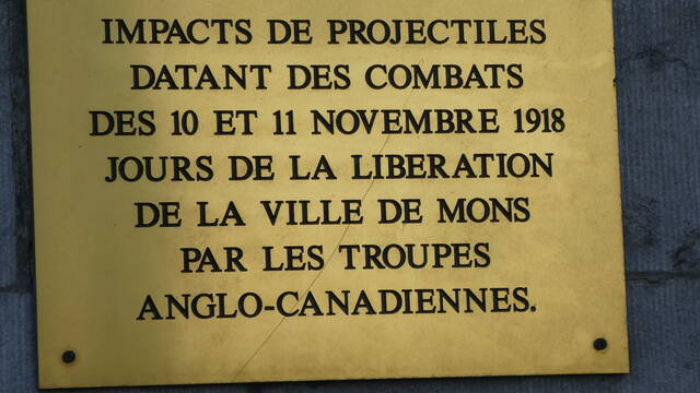Distribution of the canadian forces during the liberation of Mons in november 1918