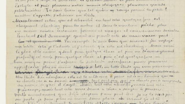 Retranscription of a letter to his brother Theo (June 1880)