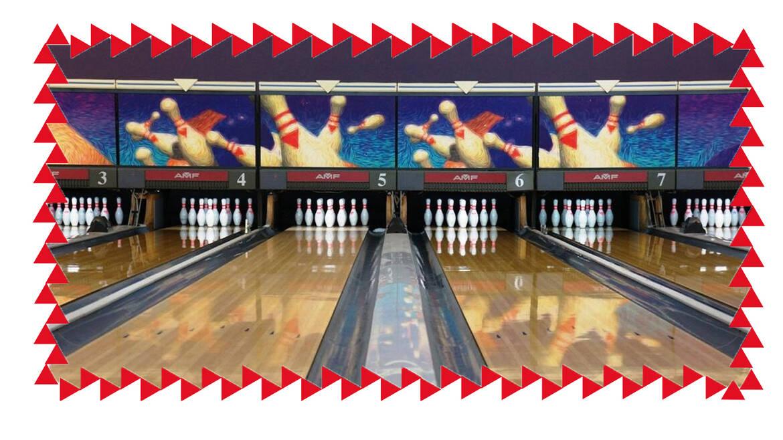 Having fun at Bowling des Bassins!