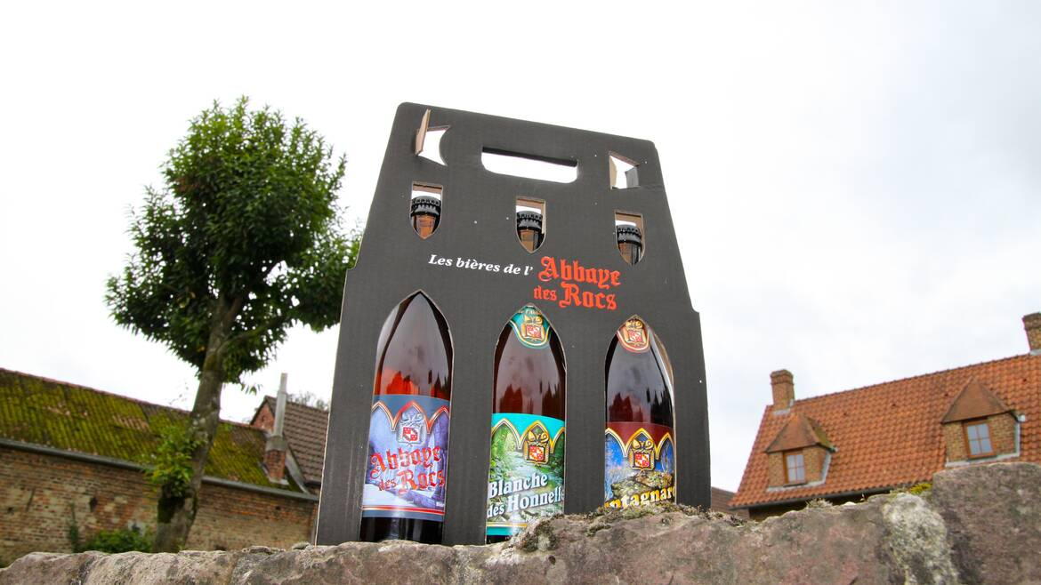 The brewery Abbaye des Rocs, natural beer! (Honnelles)